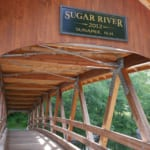 Sugar River covered bridge.